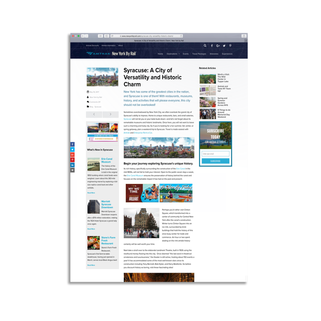 Blog | New York By Rail