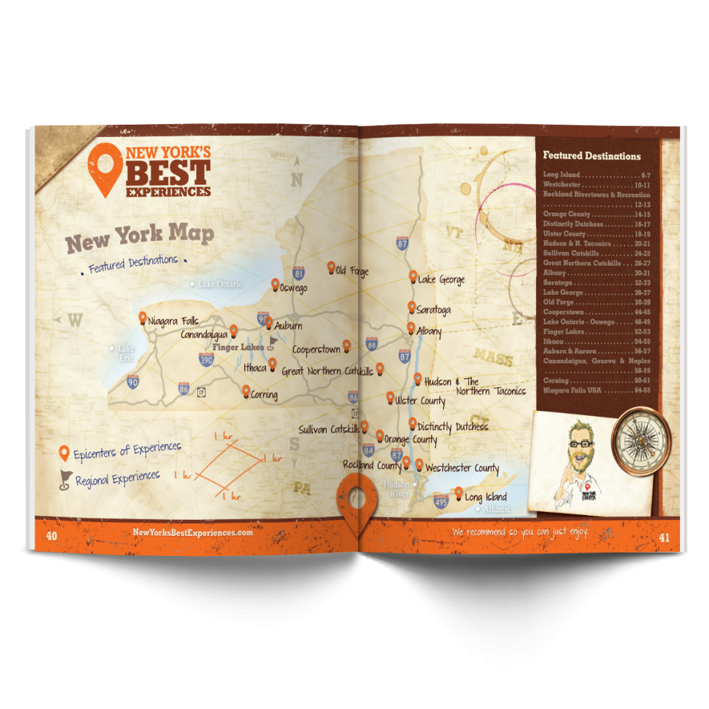 Map | New York's Best Experiences | New York Welcomes You, Inc.