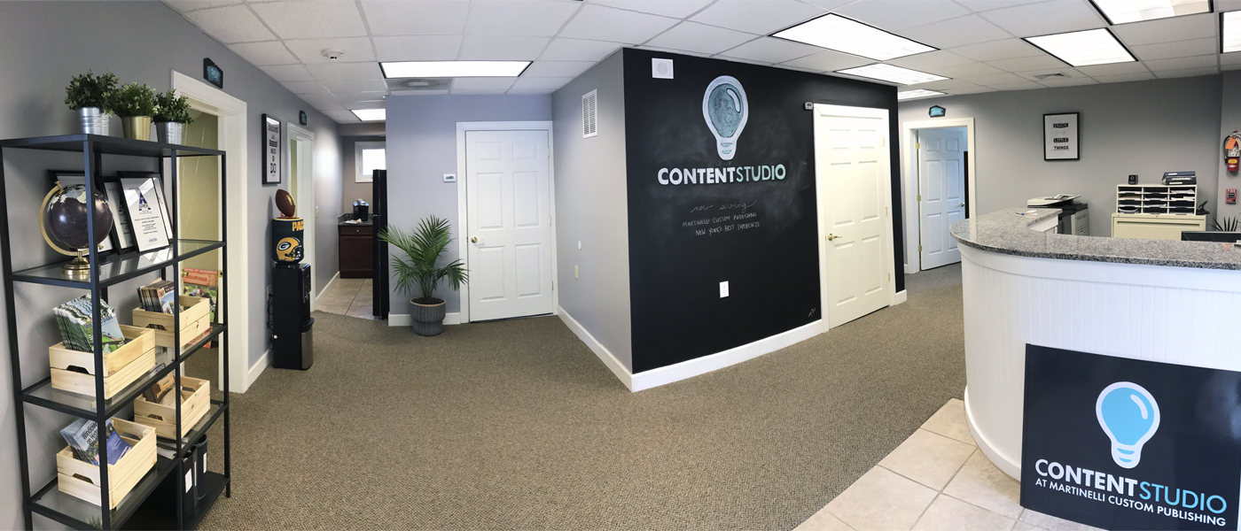 The new home for Martinelli Custom Publishing, and creative offices of Content Studio.